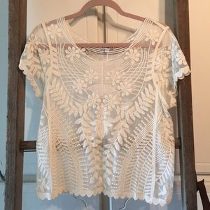 Lace top size small express brand